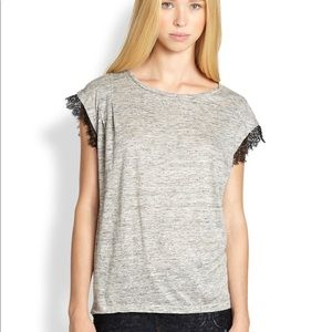 Marc by Marc Jacobs Lace Trim Tee